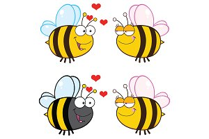 Bee Cartoon Character Collection - 5