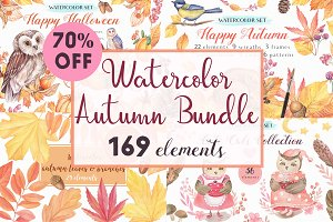 -70%OFF - Watercolor Autumn Bundle