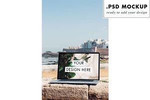 Macbook Pro Laptop Mockup Sea Views