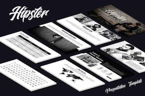 hipster powerpoint template presentation templates creative market