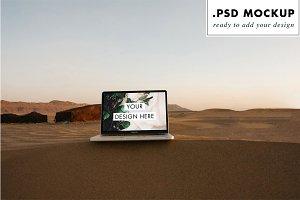 Computer Mockup Sand Dunes Sahara
