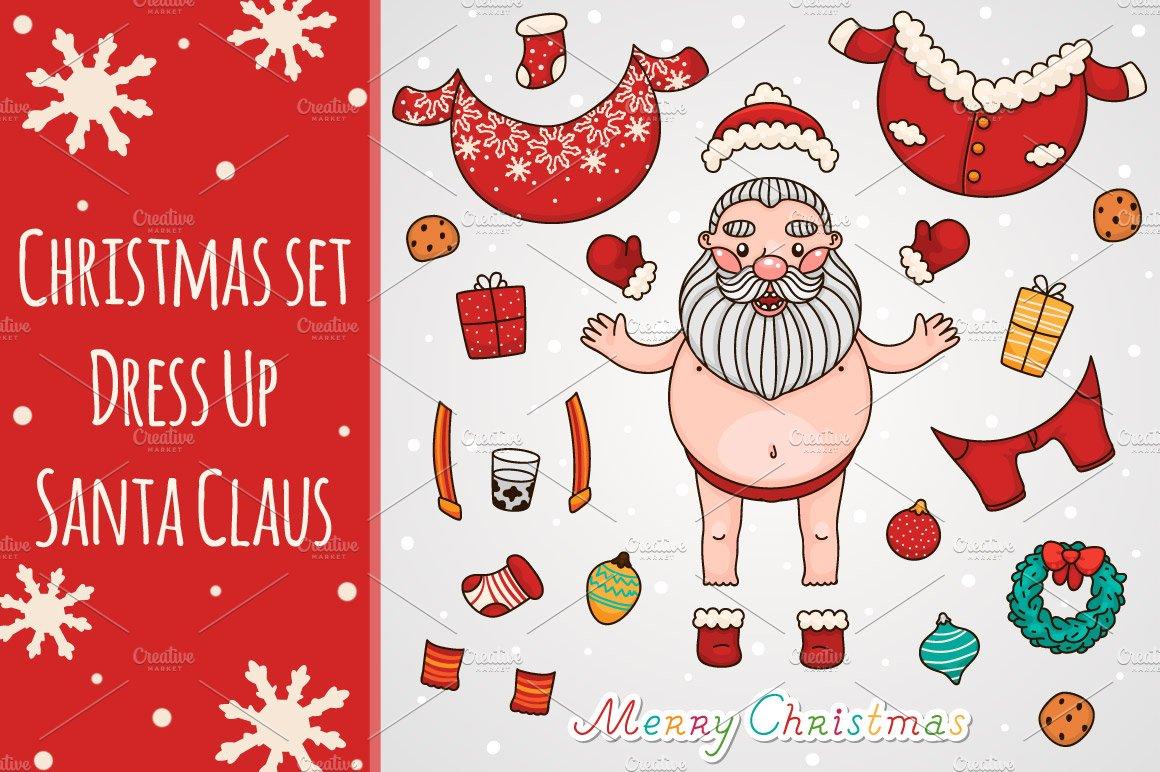 christmas set dress up santa claus illustrations creative market - Christmas Dress Up