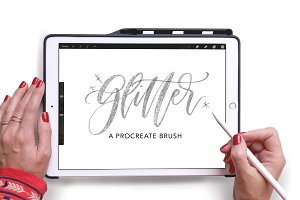 Procreate Glitter Lettering Brush