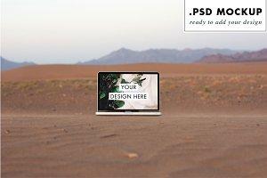 Sand Dunes MacBook Pro Web Mockup
