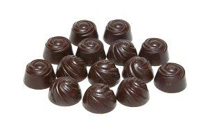 Delicious dark chocolate candies