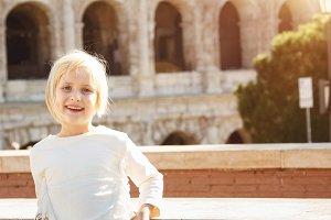 66n Portrait of happy child near Col