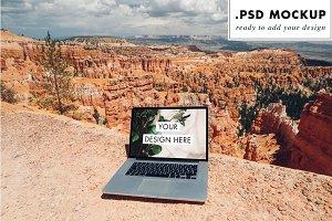 National Park Nomad Laptop Photoshop