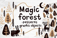 Magic forest | Patterns by  in Illustrations