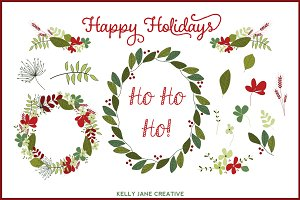 Christmas Wreaths Vector