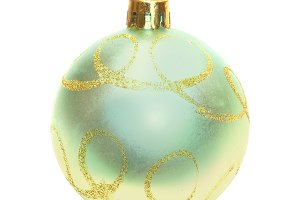 Yellow Christmas bauble