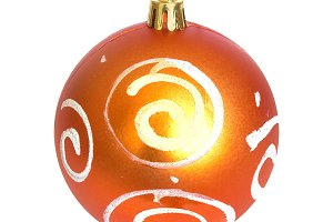 Orange Christmas bauble