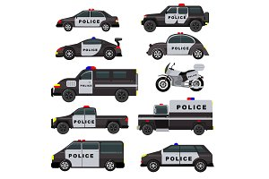 Police car vector emergency policy