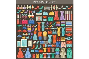 Big fashion flat set