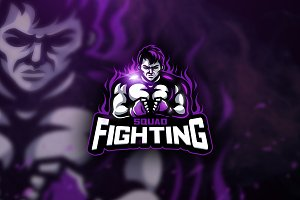 Fighting Squad Mascot & Esport Logo
