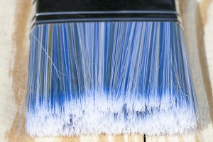 a blue brush
