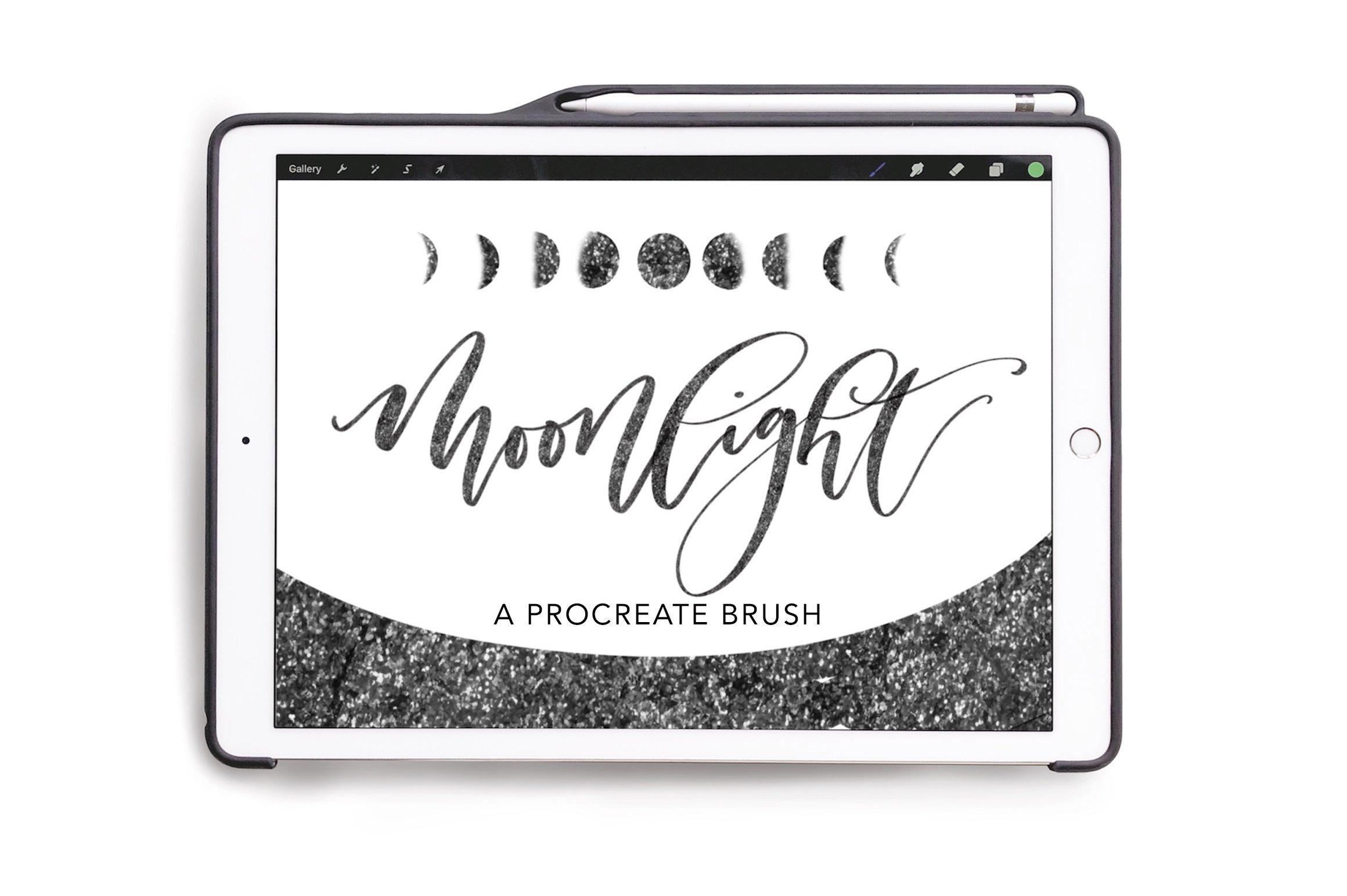 Procreate Sparkly Lettering Brush ~ Procreate Brushes