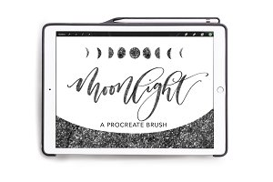 Procreate Sparkly Lettering Brush