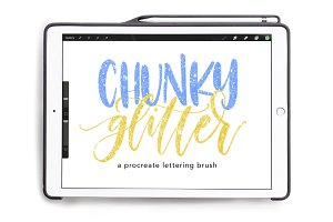 Chunky Glitter Procreate Brush