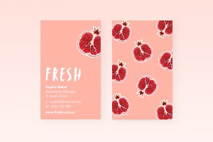 Fresh Pomegranate Business Cards