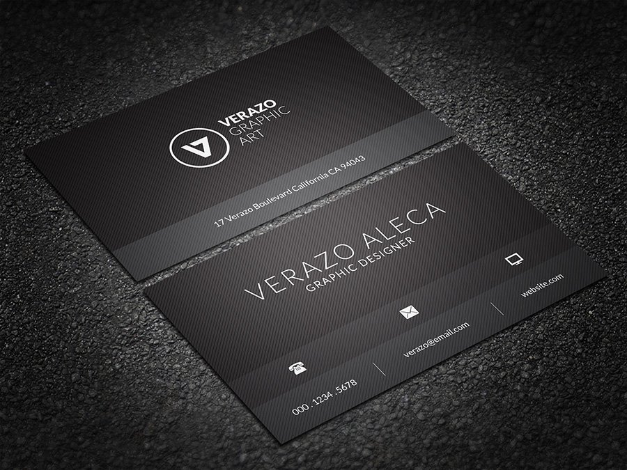 Black minimal business card business card templates creative market accmission Gallery