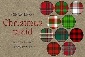 Seamless Christmas Plaid