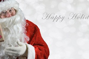 Banner sized inage with Santa Claus