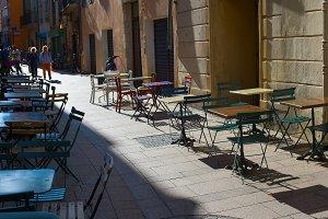 street restaurant old town France