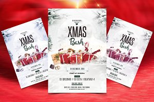 X-Mas Bash - PSD flyer Template