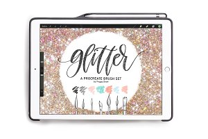 Glitter Procreate 7 Brush Bundle