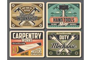 Rrepair and carpentry work tools