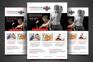 Fitness Center Flyer Print Templates