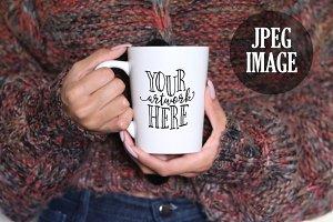 CHERRY NOIR Feminine Mug Mockup