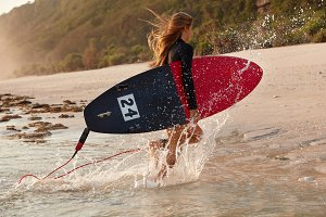 Lifestyle concept. View of fast surf