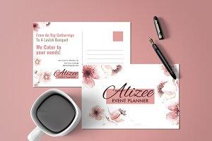 Alizee Event Planner Postcard