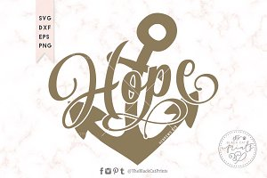 Hope Anchor SVG DXF EPS PNG