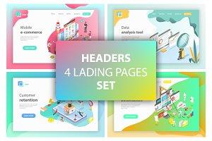 Landing page headers