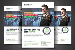 Business Planner Flyer Print Templat
