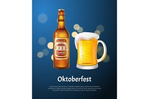 Oktoberfest Poster with Beer in