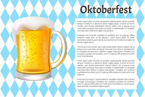 Oktoberfest Poster Big Glass Mug of