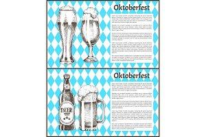 Oktoberfest Posters Set Beer Goblets