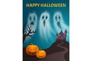 Happy Halloween Spooky Castle Hill