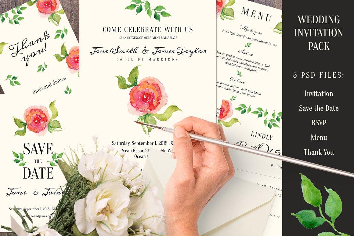 Wedding Invitation pack ~ Invitation Templates ~ Creative Market