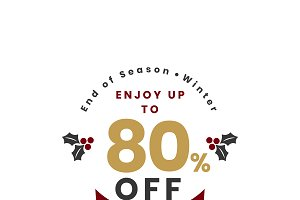 Christmas special 80% off vector