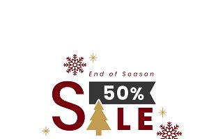 Christmas special 50% off vector