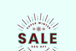 Christmas sale promotion logo vector