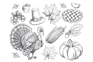Pumpkin Thanksgiving Symbols