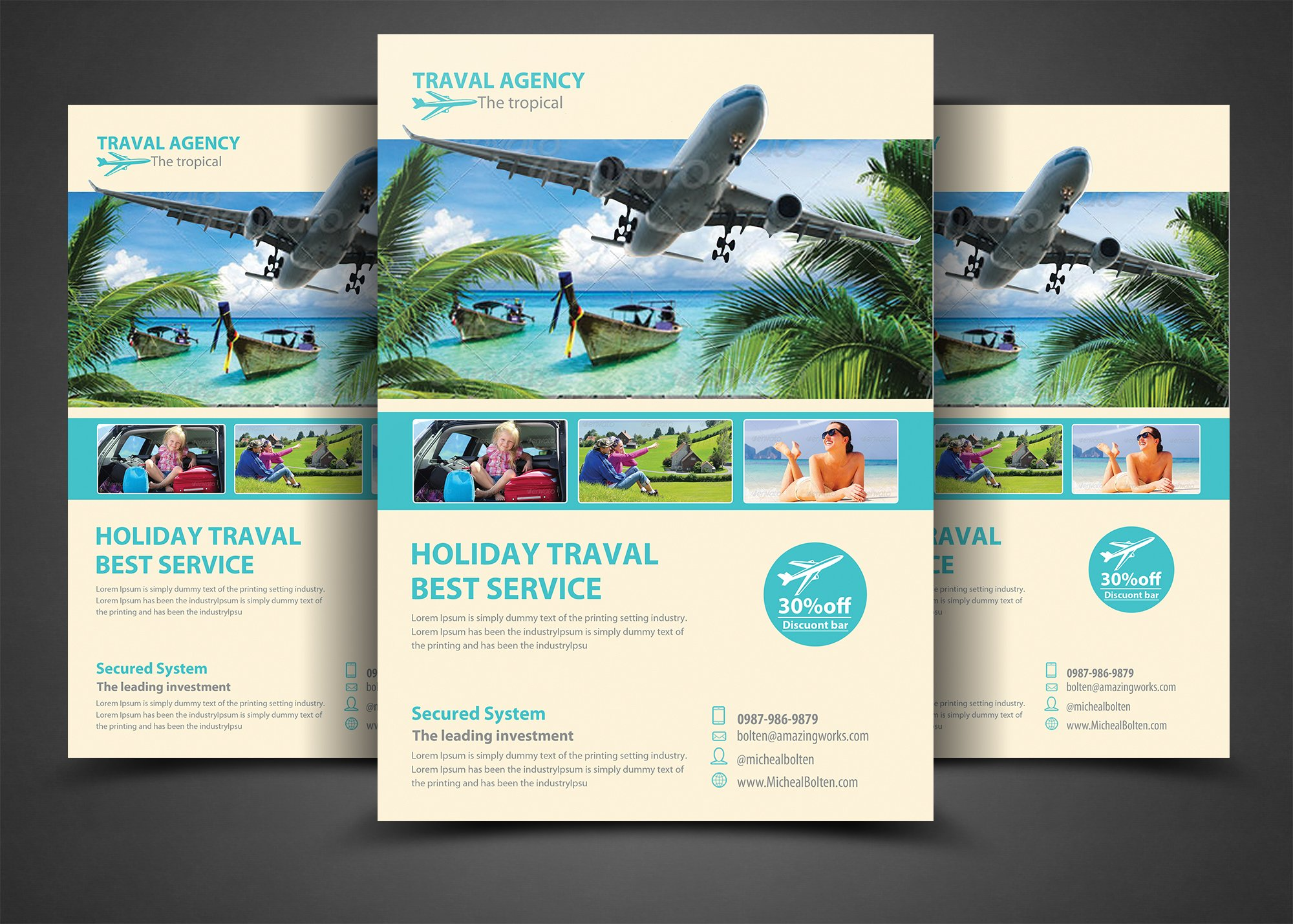 travel agency brochure template - travel agency corporate flyer flyer templates creative