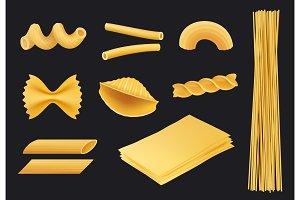 Italian pasta realistic icon