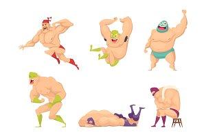 Muscular wrestler. Mma fighter in