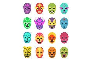 Lucha libre mask. Martial wrestler
